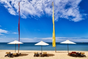 Lounge chairs and Beach Umbrellas