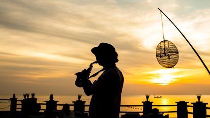 Jazz Music by the jetty